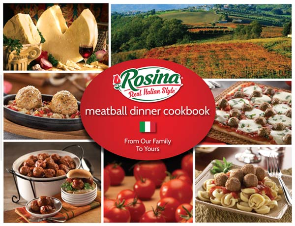 Promotional image for: FREE Rosina Real Italian Style Meatball Dinner Cookbook